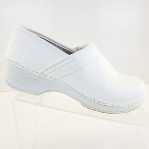 Dansko Womens Pro Xp White Leather Clogs EU 38 US